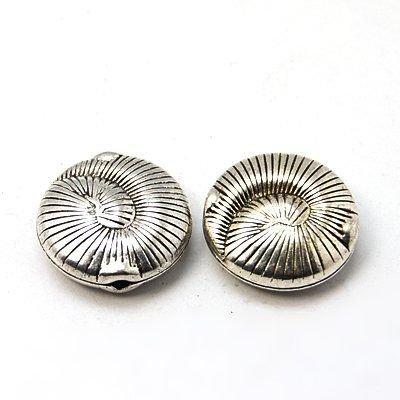 Margele metalice mari argintii D=18,5mm-MM009