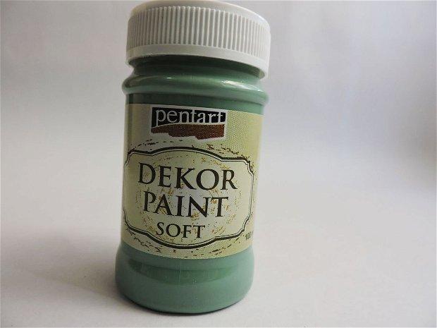 Vopsea decorativa Soft, 100 ml- verde turcoaz