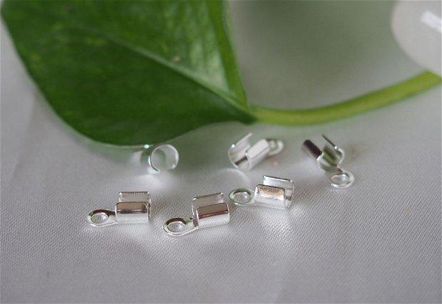 Capat colier argintat, 5mm (2)