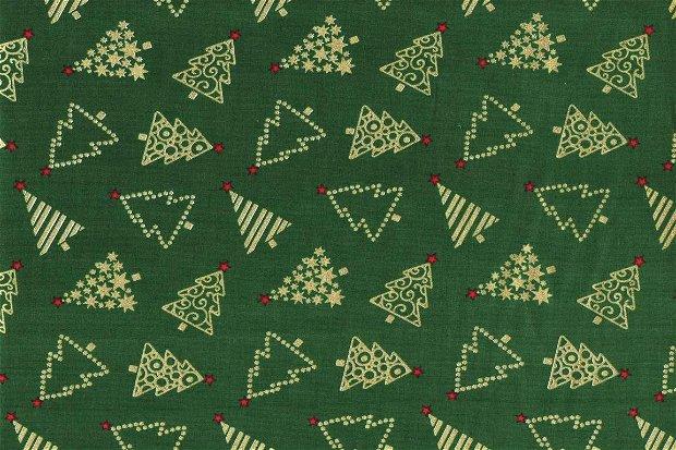 GoldenGreenTrees - 30x140cm - subtire - Christmas - Tehida