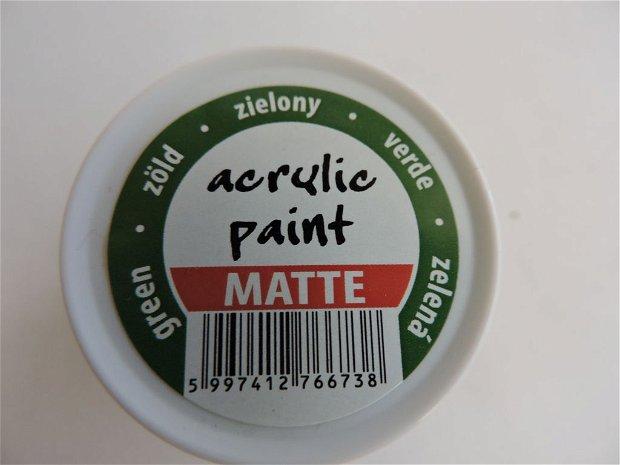 Vopsea acrilica mata, 50 ml- verde