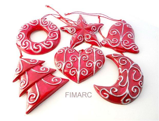 Decoratiuni pentru brad(rosii)