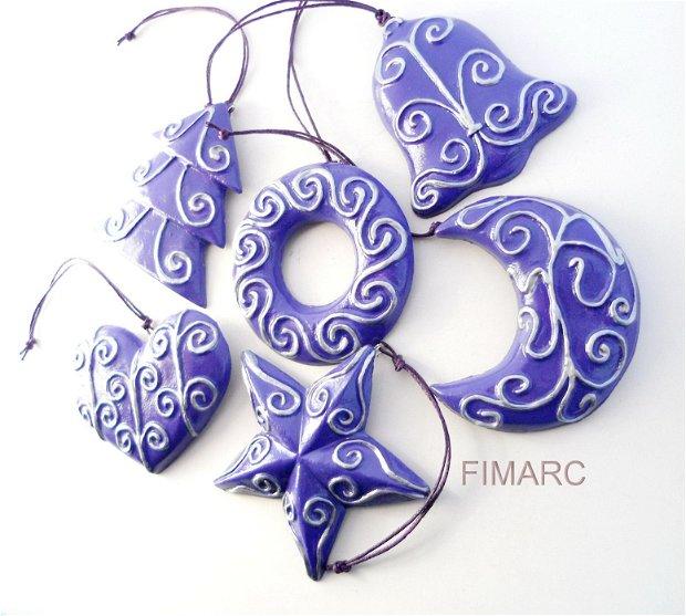 Decoratiuni pentru brad(violet)