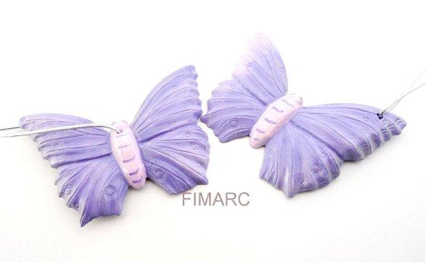 Fluture de pus in brad - decoratiune