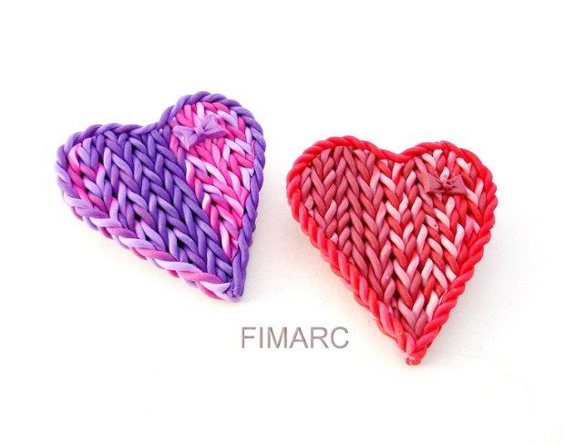 Inima tricotata - brosa