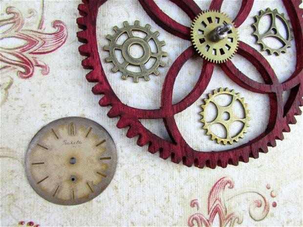 Tablou steampunk mecanism ceas