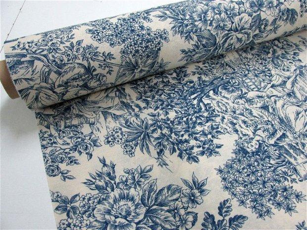 Romantic Rococo Blue - 280cm - gr.medie