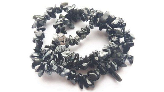 Lchips 18 - obsidian snowflake