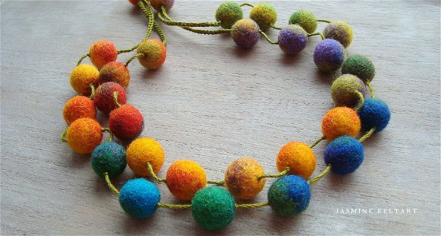 Colier multicolor Maroussia