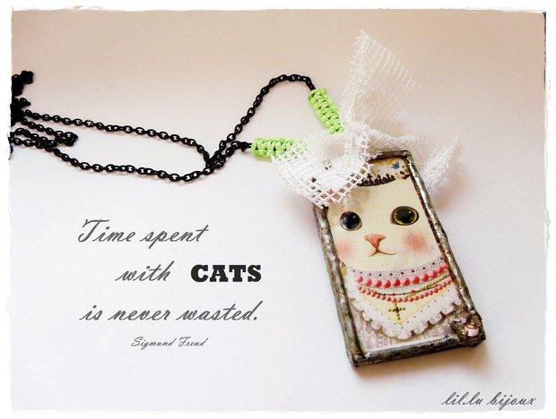 Colier personalizat cu pisici regale