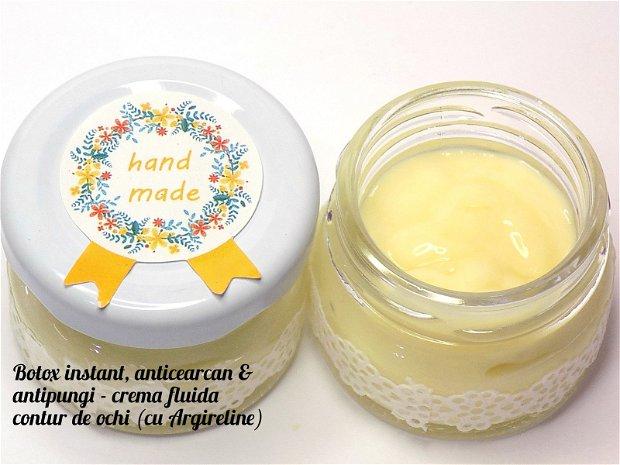 Botox instant, anticearcan, antipungi - crema fluida (cu Argireline) - 30ml