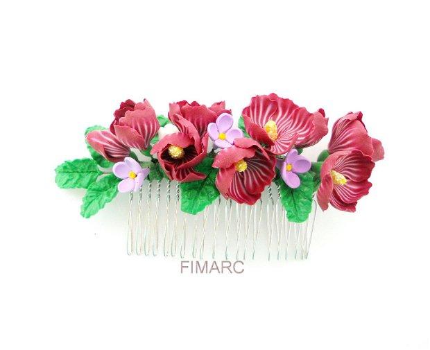 Hibiscus si Liliac - pieptene pt.coc