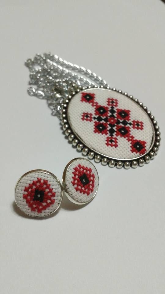 Set bijuterii cu model popular romanesc