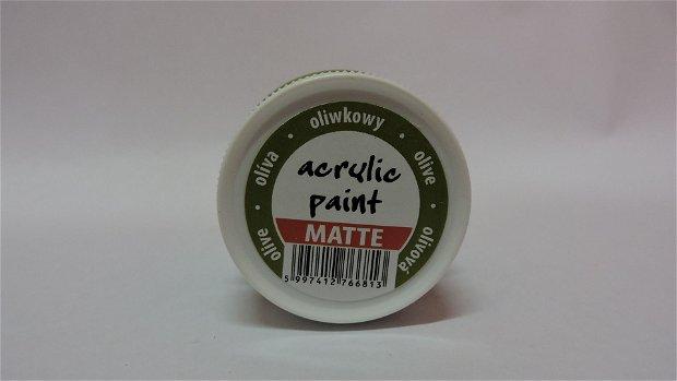 Vopsea acrilica mata,50ml-masliniu