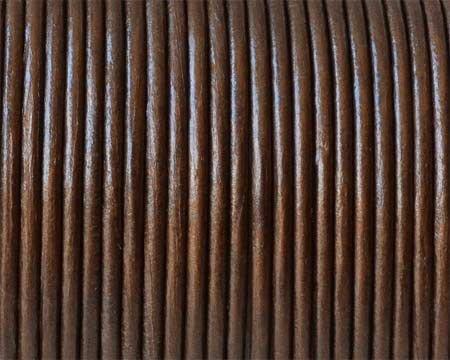 Snur piele naturala 2mm bronz metalizat EU