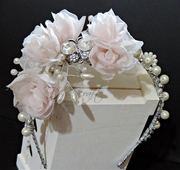 Coronita mireasa/ coronita pentru dezgatit mireasa Dream Rose