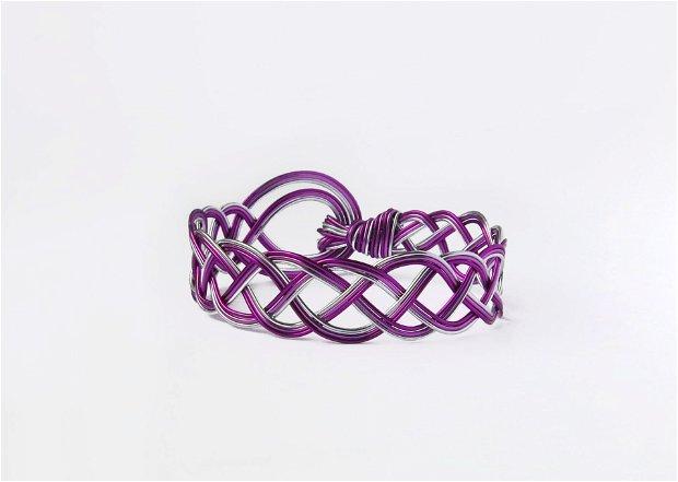 Bucle violete - Brățară din sârmă de aluminiu colorată