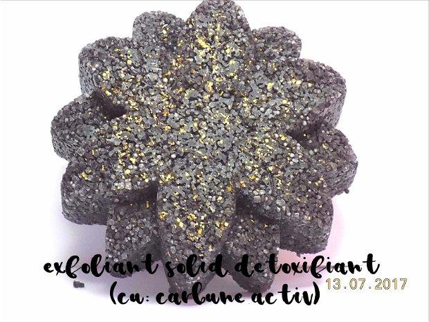 EXFOLIANT SOLID NATURAL, DETOXIFIANT - cu: CARBUNE ACTIV