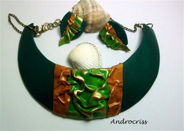 Green set bijuterii