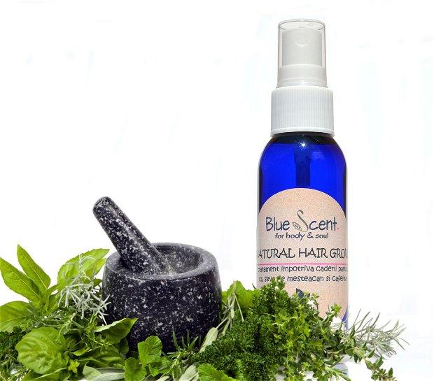 Natural Hair Grow-tratament impotriva caderii parului-BlueScent