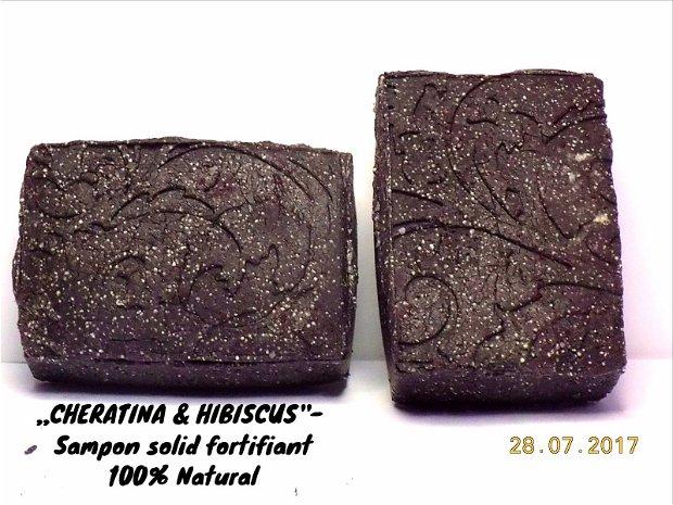 ,,Cheratina vegetala & Hibiscus'' - Sampon natural solid, fortifiant (110gr.)