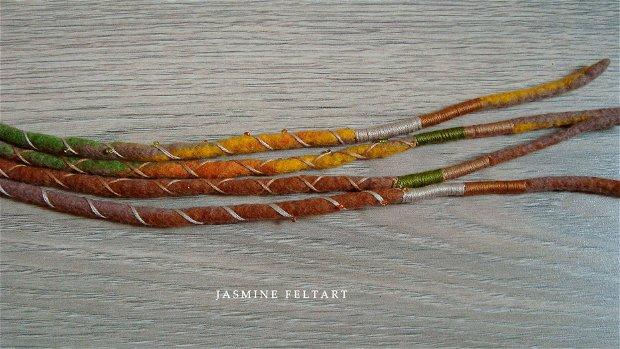 Dreaduri colorate, 80 cm