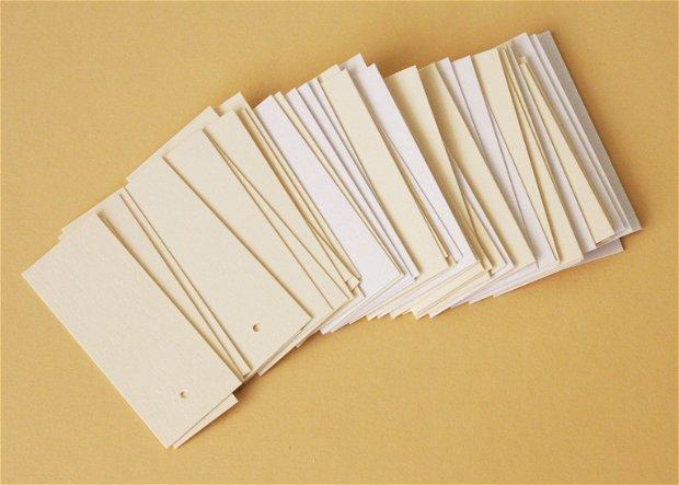 50 etichete din carton elegant, perlat