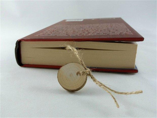 Semn de carte frunza pictat manual personalizat cu mesaj