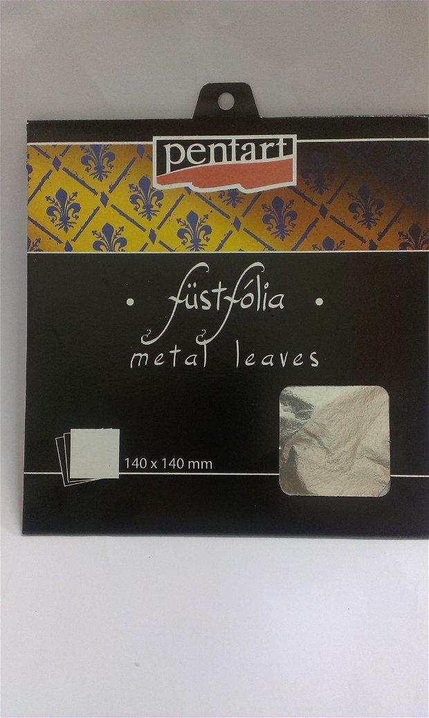 Folie decorativa argintie- 14 x 14cm, 5foi/set