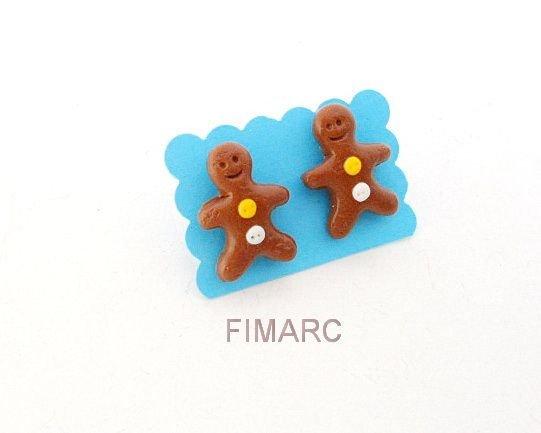 Gingerbread Man - cercei pe ureche