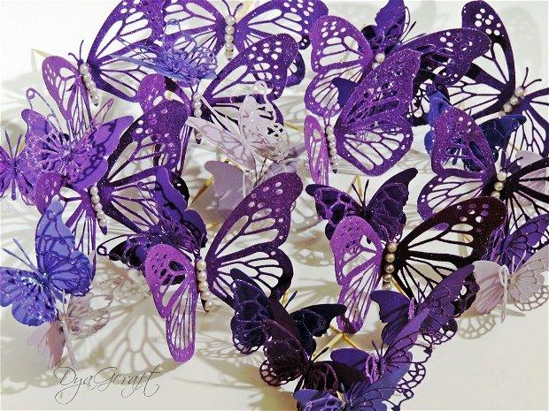 Fluturi pentru torturi mov/lila