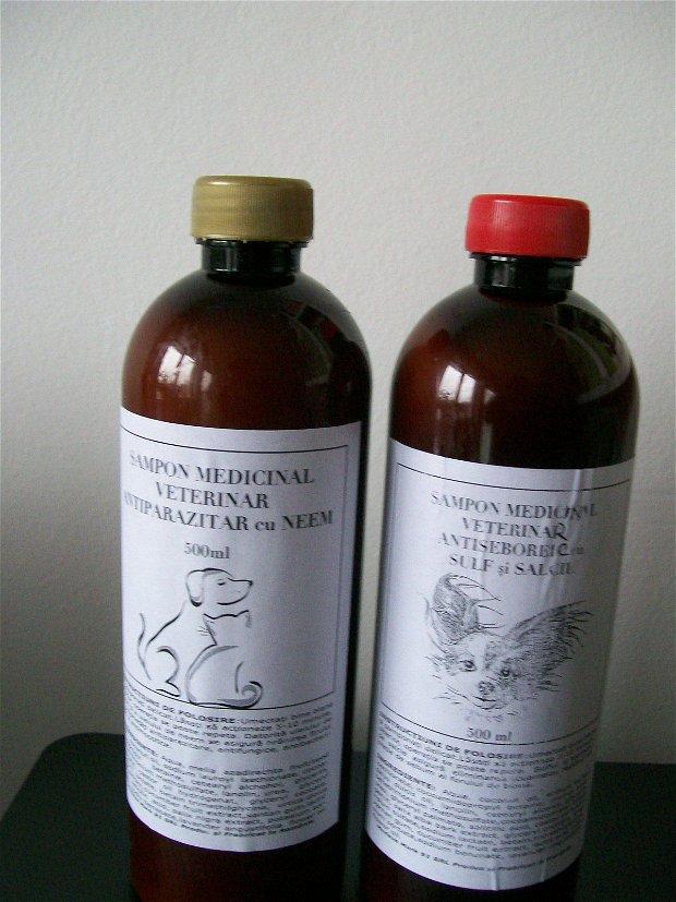 SAMPON MEDICINAL VETERINAR ANTISEBOREIC CU SULF SI SALCIE - NOU
