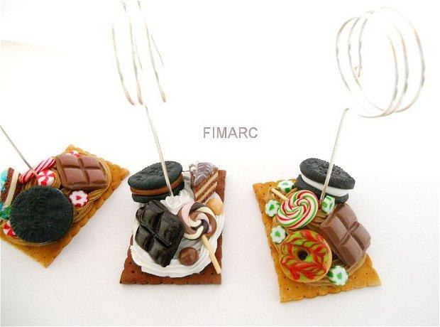 Note Holder/Card Holder/Memo Holder/marturii:nunta/botez/pt.candy bar