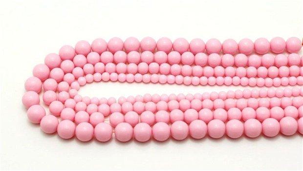 10b Margele de culoare roz din acril 4mm MP27