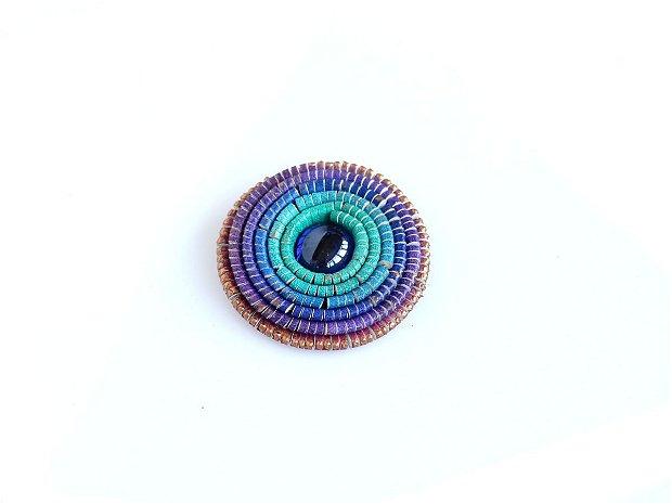 Brosa Piele Multicolora Violet Turquoise