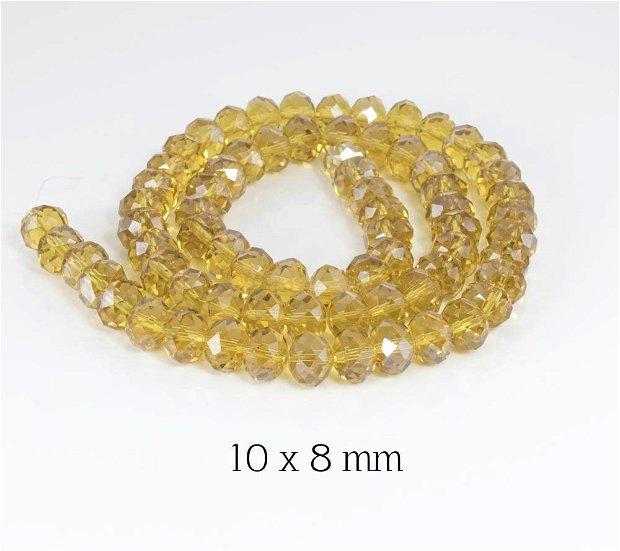Cristale fatetate, 10 x 8 mm, COD CFT3