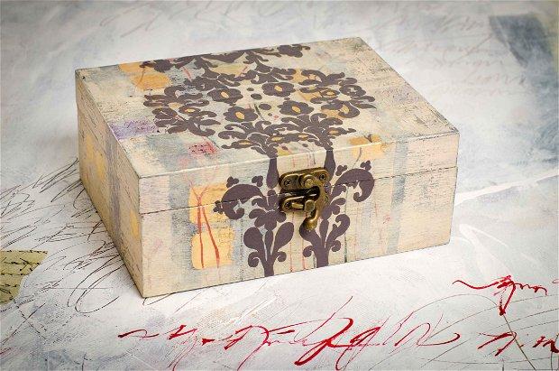 Set trei cutii din lemn
