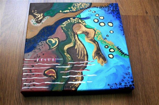 Panza pictura pe  sasiu- 30x30