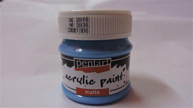 Vopsea acrilica mata 50 ml- albastru deschis