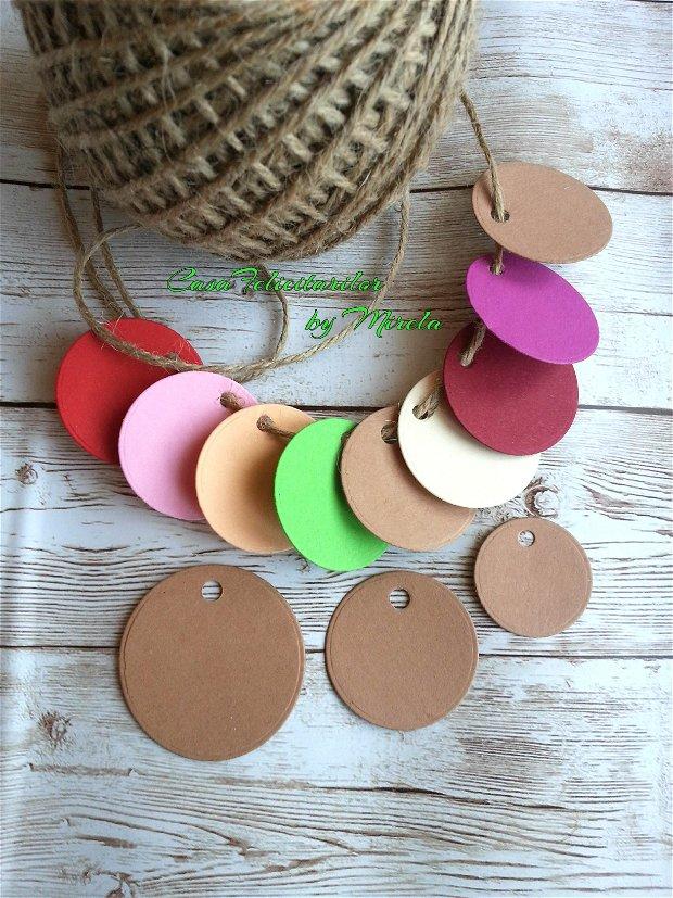Etichete craft  rotunde