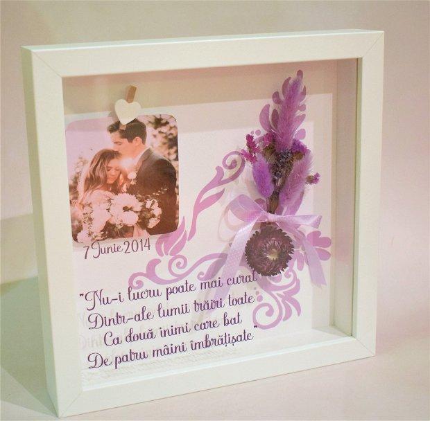 Shadow Box - aniversare 4 ani casatorie