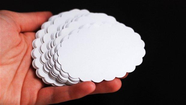Stickere - norisori albi - 10 buc