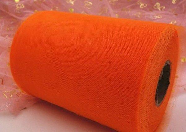 K0147 - (90m x 15cm) Tul / tutu, orange tangerine