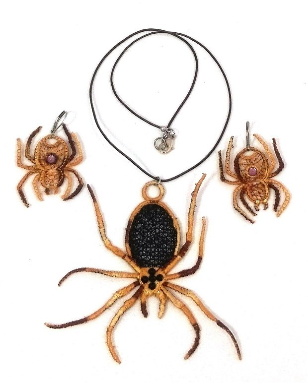 Set cercei si colier paianjeni Spiders