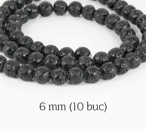 Lava naturala (10 buc), 6 mm