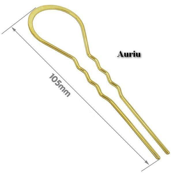 K0194 - (5buc) Agrafa / ac de par, aliaj metalic, 2 pini, 105mm