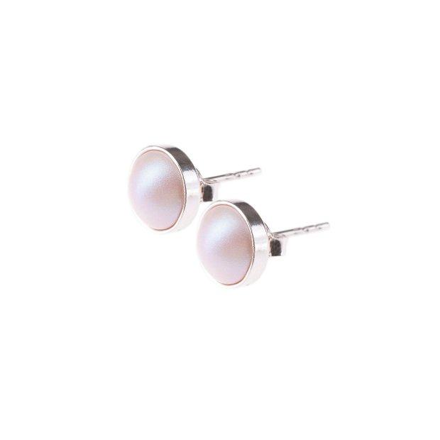 """Cercei """"Little Atoms"""" din argint 925 și perle Swarovski -  Pearly Pearl"""