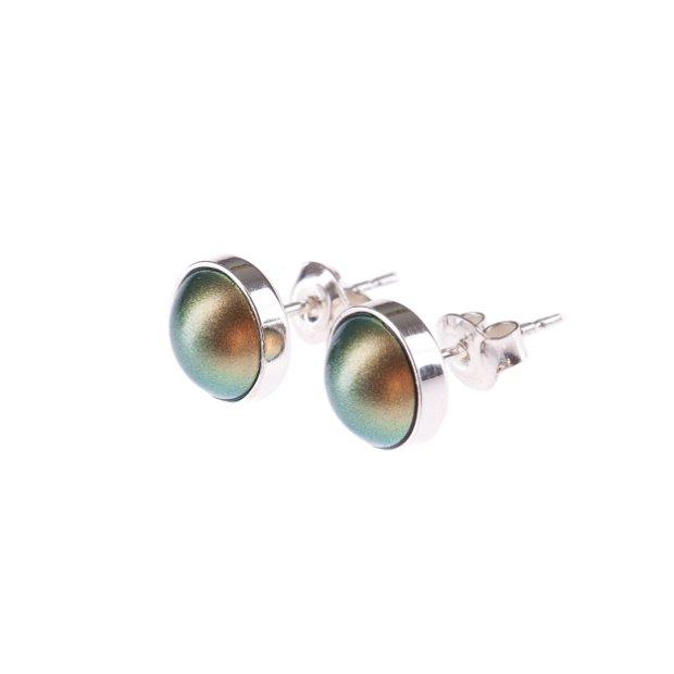 """Cercei """"Little Atoms"""" din argint 925 și perle Swarovski - Wild Green"""