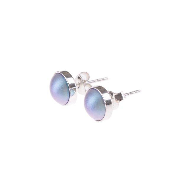 """Cercei """"Little Atoms"""" din argint 925 și perle Swarovski - Pearly Blue"""