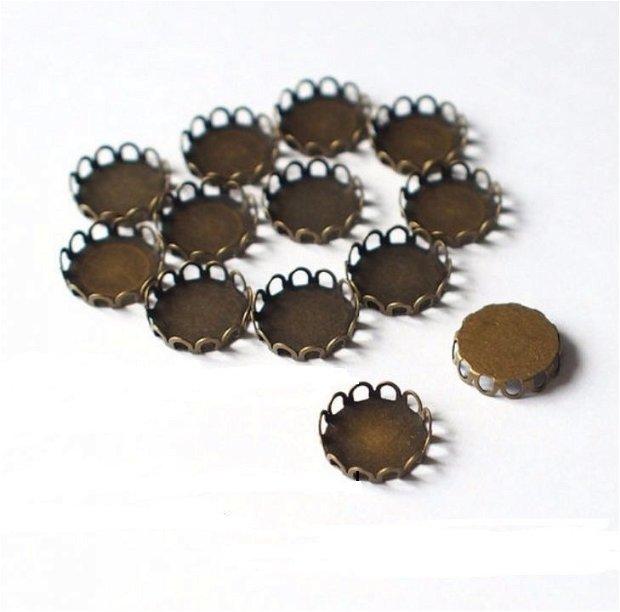Suport cabochon din bronz antic